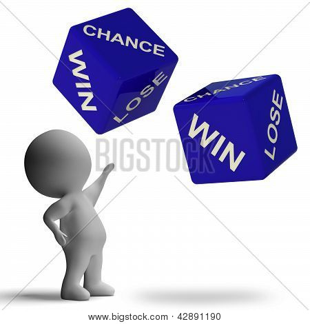 Chance Win Lose Dice Showing Betting