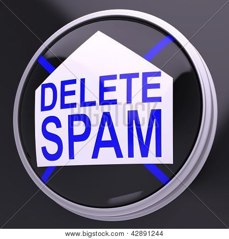 Delete Spam Shows Unwanted Undesired Trash Mail