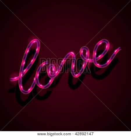 Glowing neon sign - Love