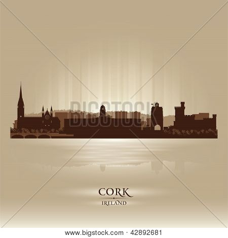 Cork Ireland Skyline City Silhouette