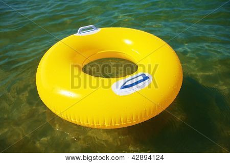 Yellow Swim Ring Floating