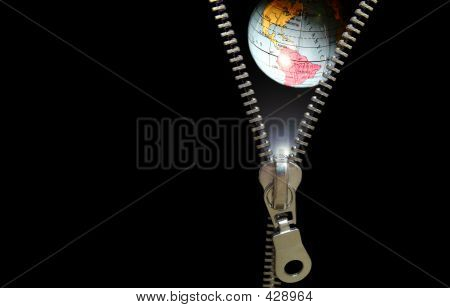 Zipper Concept. Revealing Planetary, Education, Astronomy