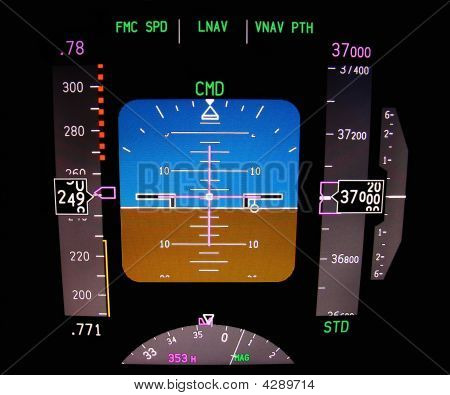Technology: Aircraft Flight Deck At 37000 Ft