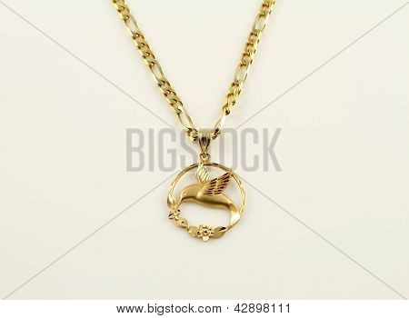 Hummingbird Gold pendant