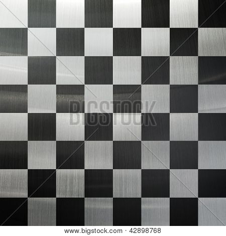 chess metal background