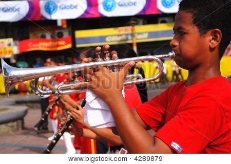 Trumpeter Boy At Voyadores Festival