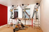 image of hand drill  - Installing Crown Molding on Living Room Ceiling - JPG