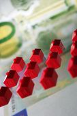 stock photo of statistician  - Little houses for Financing Building or insurances