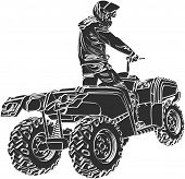 stock photo of four-wheel drive  - ATV off - JPG