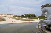 image of schoenbrunn  - view of the palace Schoenbrunn in Vienna - JPG