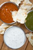 Mint chutney, mint yogurt