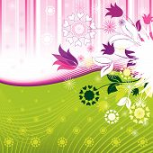 stock photo of dessin  - Colorful Abstract Flowers Pattern  - JPG