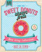 stock photo of icing  - Vintage Donuts Poster - JPG