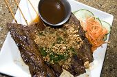pic of nuong  - Vietnamese food appetizer bo nuong sate grilled beef on skewer food - JPG