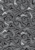 stock photo of crossed pistols  - Handgun Silhouettes Background in vectors - JPG