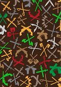pic of crossed pistols  - Weapons Silhouettes Background - JPG