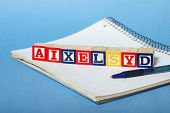 picture of dyslexia  - A concept based on dyslexia and its difficulties - JPG
