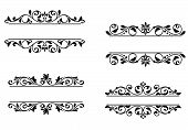 picture of monogram  - Header frame with retro floral elements for monogram or vignette design - JPG