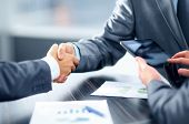 stock photo of communication people  - Business handshake - JPG