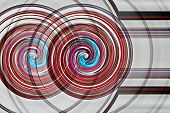 Pinwheel circles with concentric lines