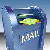 Постер, плакат: Почта на почтовый ящик показывает почты пост