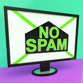 image of no spamming  - No Spam Showing Removing Unwanted Junk Email - JPG