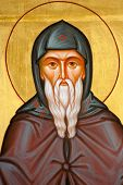 stock photo of saint-nicolas  - Saint Nicolas Orthodox religious icons fragment Saint Nicolas Orthodox Religious Icons - JPG