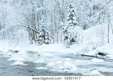 Winter Mountain River
