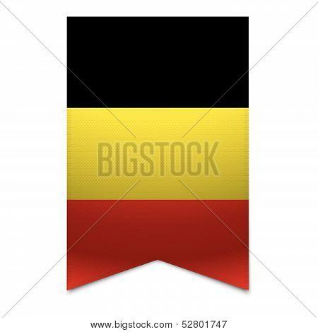 Ribbon Banner - Belgian Flag