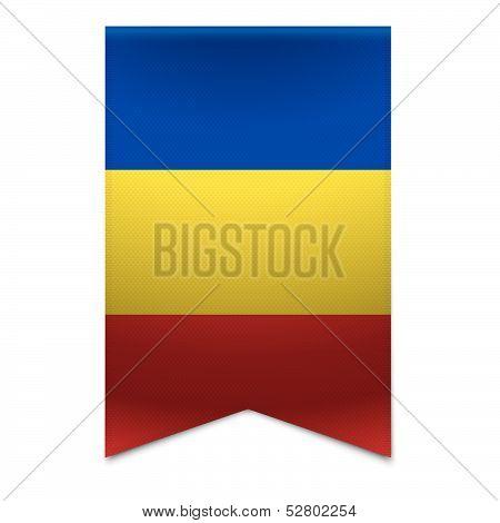 Ribbon Banner - Moldovan Flag