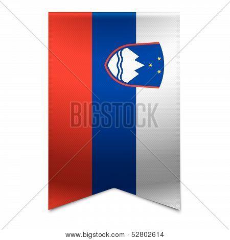 Ribbon Banner - Slovenian Flag