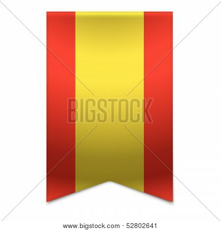 Ribbon Banner - Spanish Flag