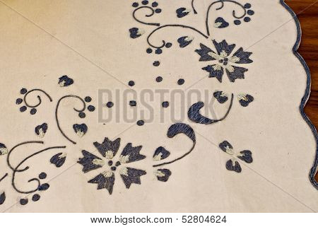 The Embroidery On  The Paper