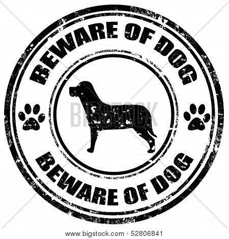 Beware Of Dog-stamp