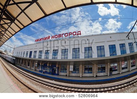 Nizhny Novgorod, Russia - July 1: View Of Moskovsky Rail Terminal In July 1, 2012 In Nizhny Novgorod