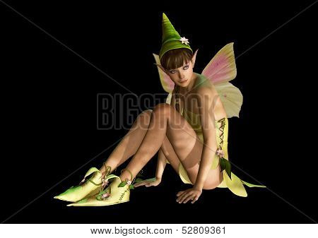 Fairy With Pointed Cap, 3D Cg
