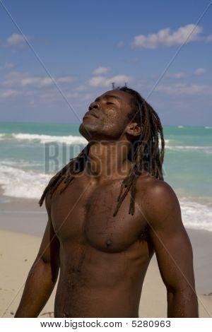 Man Tilting His Head Behind In Cuba