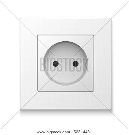 White socket outlet.