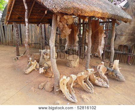 poster of Inside of the Great Kraal in Shakaland Zulu Village, South Africa