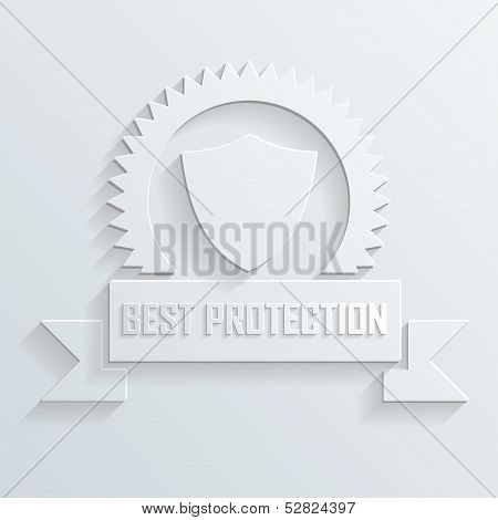 shield and ribbon vector