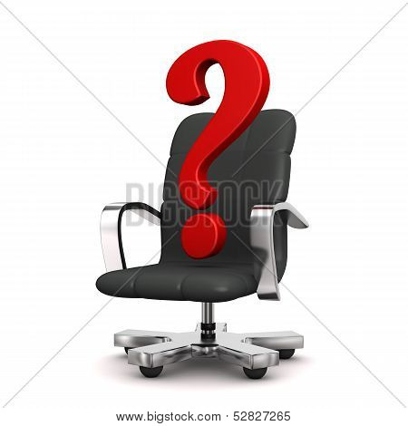 Question Mark Swivel Armchair