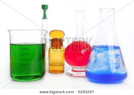 Chemist Research Laboratory With Chemical Equipment