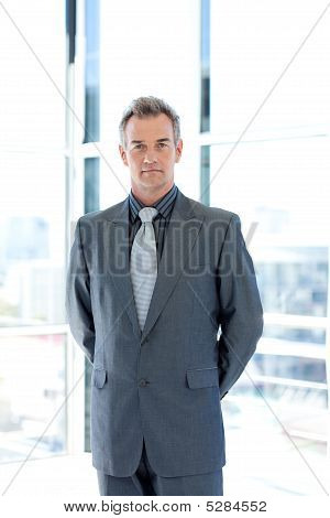 Serious Senior Businessman In Office