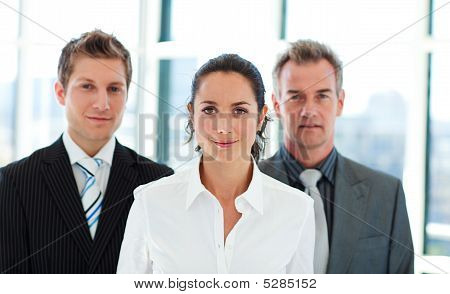 Businesswoman Leading Her Team