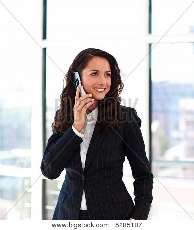 Beautiful Businesswoman Talking On Phone