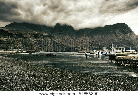view of Puerto de las Nieves in Gran Canaria, Canary Islands, Spain