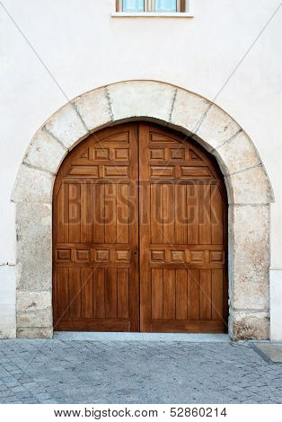 Wooden Gates In Alcala