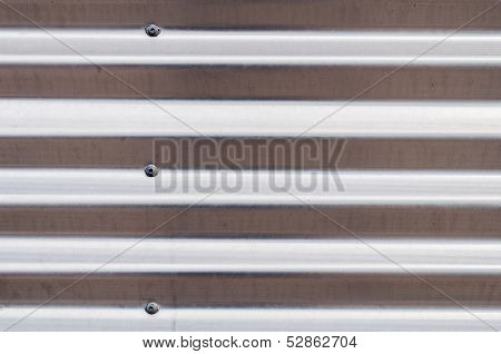 Silver Corrugated Sheet Metal