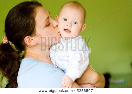 Mother Kiss Her Baby