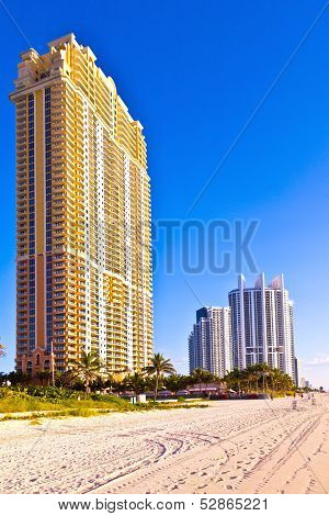 Beach At Sunny Islands, Miami Early Morning